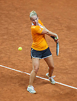Arena Loire,  Trélazé,  France, 14 April, 2016, Semifinal FedCup, France-Netherlands, Dutch team practise, Richel Hogenkamp<br /> Photo: Henk Koster/Tennisimages