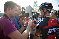 a lot of (Norwegian) attention for Thor Hushovds (NOR/BMC) farewell race (post-race)<br /> <br /> GP Impanis 2014