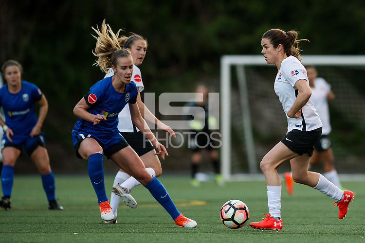 Seattle, WA - April 15th, 2017: Kelley O'Hara during a regular season National Women's Soccer League (NWSL) match between the Seattle Reign FC and Sky Blue FC at Memorial Stadium.