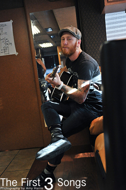 Jared Weeks of Saving Abel prior to concert at the Madison Theater in Covington, Kentucky.