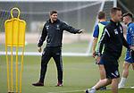 01.08.2018 Rangers training: Steven Gerrard with Glenn Middleton