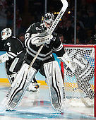 Jon Gillies (PC - 32) - The Providence College Friars defeated the Boston University Terriers 4-3 to win the national championship in the Frozen Four final at TD Garden on Saturday, April 11, 2015, in Boston, Massachusetts.