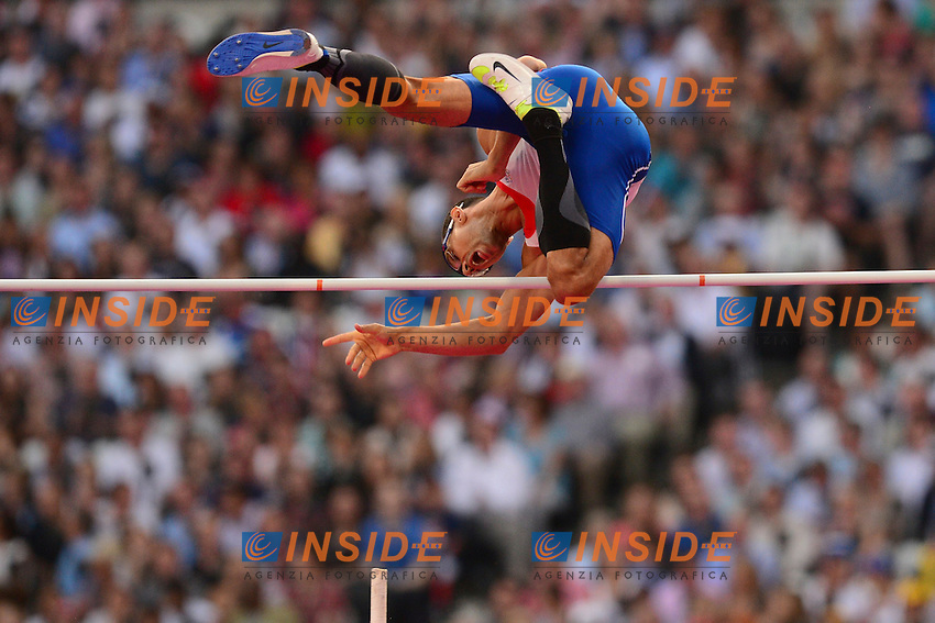 Romain Mesnil (Fra) - saut a la perche hommes .Olimpiadi Londra 2012.London 2012 Olympic Games.foto Insidefoto - Italy ONLY