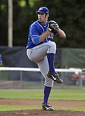 August 16, 2004:  Pitcher Zach Jackson of the Auburn Doubledays, Short-Season Single-A affiliate of the Toronto Blue Jays, during a game at Russell Diethrick Park in Jamestown, NY.  Photo by:  Mike Janes/Four Seam Images