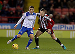 Danny Mayor of bury and Paul Coutts of Sheffield Utd during the English League One match at the Bramall Lane Stadium, Sheffield. Picture date: November 22nd, 2016. Pic Simon Bellis/Sportimage