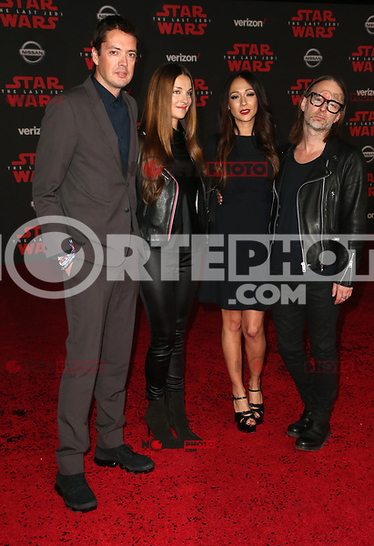 LOS ANGELES, CA - DECEMBER 9: Thom Yorke, Dajana Roncione, at Premiere Of Disney Pictures And Lucasfilm's 'Star Wars: The Last Jedi' at Shrine Auditorium in Los Angeles, California on December 9, 2017. Credit: Faye Sadou/MediaPunch /NortePhoto.com NORTEPHOTOMEXICO