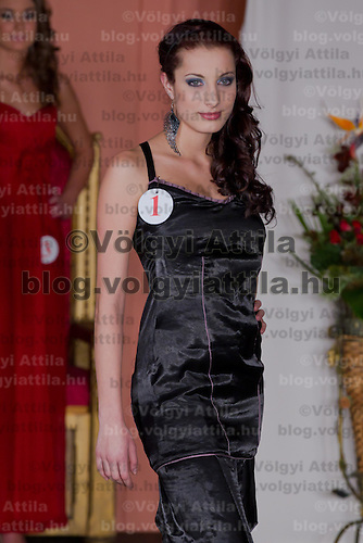 Mira Hermansky participates the Miss Hungary beauty contest held in Budapest, Hungary on December 29, 2011. ATTILA VOLGYI