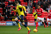Tariqe Fosu of Charlton Athletic races upfield during Charlton Athletic vs Oxford United, Sky Bet EFL League 1 Football at The Valley on 3rd February 2018