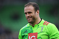Jamie Roberts of Harlequins looks relaxed as he warms up before the Premiership Rugby match between Harlequins and Saracens - 09/01/2016 - Twickenham Stoop, London<br /> Mandatory Credit: Rob Munro/Stewart Communications