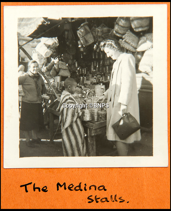 BNPS.co.uk (01202 558833)<br /> Pic: C&amp;T/BNPS<br /> <br /> Brenda in the Medina in Marrakesh in January 1943 after Churchill had taken Roosevelt to the desert city after the famous conference in Casablanca.<br /> <br /> A humble secretary's remarkable first hand archive of some of the most momentous events of WW2 has come to light.<br /> <br /> 'Miss Brenda Hart' worked in the Cabinet Office during the last two years of the war, travelling across the globe with the Allied leaders as the conflict drew to a close.<br /> <br /> Her unique collection of photographs and momentoes of Churchill, Stalin and other prominent Second World War figures have been unearthed after more than 70 years.<br /> <br /> The scrapbooks, which also feature Lord Mountbatten and Vyacheslav Molotov, were collated by Brenda Hart who, in her role as secretary to Churchill's chief of staff General Hastings Ismay, enjoyed incredible access to him and other world leaders.<br /> <br /> She also wrote a series of letters which give fascinating insights, including watching Churchill and Stalin shaking hands at the Bolshoi ballet in 1944, being behind Churchill as he walked out on to the balcony at the Ministry of Health to to wave to some 50,000 Londoners on VE day and even visiting Hitler's bombed out Reich Chancellery at the end of the war.<br /> <br /> This unique first hand account, captured in a collection of photos, passes, documents and letters are being sold at C&amp;T auctioneers on15th March with a &pound;1200 estimate.