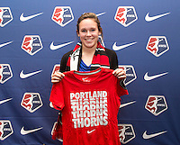Emily Menges. The NWSL draft was held at the Pennsylvania Convention Center in Philadelphia, PA, on January 17, 2014.