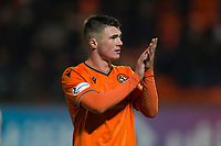 16th November 2019; Tannadice Park, Dundee, Scotland; Scottish Championship Football, Dundee United versus Queen of the South; Jamie Robson of Dundee United applauds the fans at the end of the match - Editorial Use