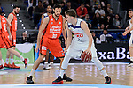 Real Madrid's Luka Doncic and Valencia Basket's Joan Sastre during 2017 King's Cup match between Real Madrid and Valencia Basket at Fernando Buesa Arena in Vitoria, Spain. February 19, 2017. (ALTERPHOTOS/BorjaB.Hojas)