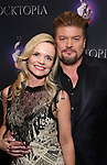"""Bob Evan and wife attends the Broadway Opening Night Performance After Party of  """"Rocktopia"""" at The Hard Rock Cafe on March 27, 2018 in New York City."""