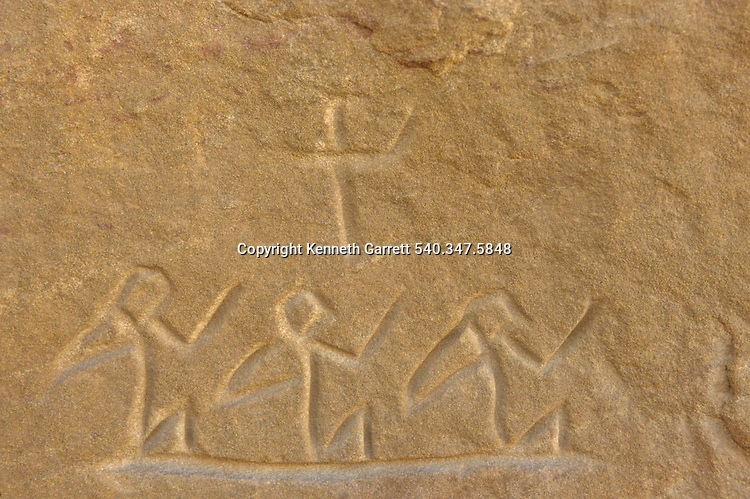 Rock art of people found along Darb el-Arbaein,Egypt; Archaeologist; Salima Ikram; Kharga Oasis;Ancient Cultures; mm7195; Desert; Oasis