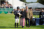 Stamford, Lincolnshire, United Kingdom, 8th September 2019, Oliver Townend (GB) during the prize giving at the end of the 2019 Land Rover Burghley Horse Trials, Credit: Jonathan Clarke/JPC Images