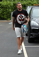 Pictured: Kristoffer Nordfeldt arrives Monday 04 July 2016<br /> Re: Swansea City FC players at the Landore training ground, return for this season's preparation.