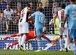 04.08.18 St Mirren v Dundee: Craig Samson saves Sofien Moussa's penalty kick