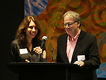 Sarah Stern and Douglas Aibel  during the Vineyard Theatre's Emerging Artists Luncheon honoring Charly Evon Simpson with the Paula Vogel Playwriting Award at the National Arts Club on November 25, 2019 in New York City.