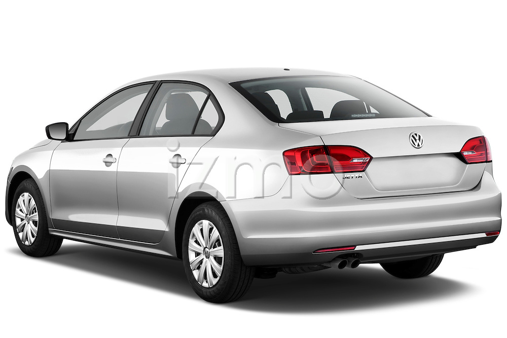 Rear three quarter view of a 2012 Volkswagen Jetta S Sedan