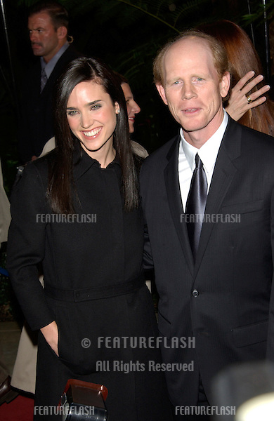 Actress JENNIFER CONNELLY & director RON HOWARD at the Broadcast Film Critics Association's 7th Annual Critics Choice Awards at the Beverly Hills Hotel..11JUN2002...© Paul Smith/Featureflash