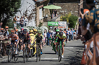 Escape Group with Pauline Ferrand Prevot (FRA/Canyon SRAM) up the infamous Mur de Huy.<br /> <br /> <br /> 21st La Flèche Wallonne Femmes <br /> 1 day race: Huy - Huy (118,5KM)