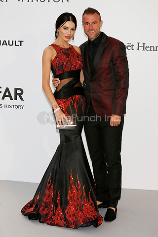 Philipp Plein and Andreea Sasu at the amfAR Gala Cannes 2017 at Hotel du Cap-Eden-Roc on May 25, 2017 in Cap d'Antibes, France. Credit: John Rasimus /MediaPunch ***FRANCE, SWEDEN, NORWAY, DENARK, FINLAND, USA, CZECH REPUBLIC, SOUTH AMERICA ONLY***
