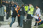 ***BETALBILD***  <br /> Stockholm 2015-05-25 Fotboll Allsvenskan Djurg&aring;rdens IF - AIK :  <br /> AIK:s supportrar i ett br&aring;k efter matchen mellan Djurg&aring;rdens IF och AIK <br /> (Foto: Kenta J&ouml;nsson) Nyckelord:  Fotboll Allsvenskan Djurg&aring;rden DIF Tele2 Arena AIK Gnaget supporter fans publik supporters slagsm&aring;l br&aring;k fight fajt gruff
