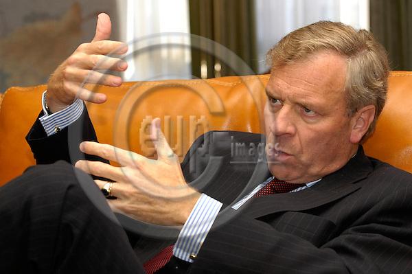 BRUSSELS - BELGIUM - 06 SEPTEMBER 2004 -- Secretary General of NATO, Mr. Jaap de Hoop SCHEFFER,  during an interview.  PHOTO: EUP-IMAGES / JAKUB PERSIN