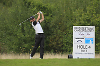Christofer Blomstrand (SWE) on the 4th tee during Round 1 of the Bridgestone Challenge 2017 at the Luton Hoo Hotel Golf &amp; Spa, Luton, Bedfordshire, England. 07/09/2017<br /> Picture: Golffile | Thos Caffrey<br /> <br /> <br /> All photo usage must carry mandatory copyright credit     (&copy; Golffile | Thos Caffrey)