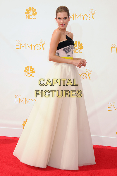 25 August 2014 - Los Angeles, California - Allison Williams. 66th Annual Primetime Emmy Awards - Arrivals held at Nokia Theatre LA Live. <br /> CAP/ADM/BP<br /> &copy;BP/ADM/Capital Pictures