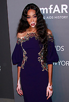 NEW YORK, NY - FEBRUARY 6: Winnie Harlow arriving at the 21st annual amfAR Gala New York benefit for AIDS research during New York Fashion Week at Cipriani Wall Street in New York City on February 6, 2019. <br /> CAP/MPI99<br /> &copy;MPI99/Capital Pictures