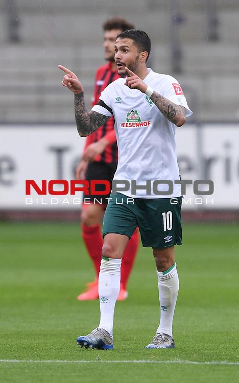 FussballFussball: agnph001:  1. Bundesliga Saison 2019/2020 27. Spieltag 23.05.2020<br /> SC Freiburg - SV Werder Bremen<br /> Leonardo Bittencourt (Bremen) jubelt nach dem Tor zum 0:1<br /> FOTO: Markus Ulmer/Pressefoto Ulmer/ /Pool/gumzmedia/nordphoto<br /> <br /> Nur für journalistische Zwecke! Only for editorial use! <br /> No commercial usage!