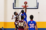 WATERBURY, CT. 09 December 2018-120918 - Crosby center Kerwin Prince #0 goes up high down the middle for a dunk against Sacred Heart's Jammal Waters #11during the annual Waterbury Boys Basketball Jamboree at Kennedy High School in Waterbury on Sunday. Bill Shettle Republican-American