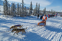 Dakota Schlosser during the 2015 Junior Iditarod start along the Denali Highway <br /> <br /> <br /> <br /> (C) Jeff Schultz/SchultzPhoto.com - ALL RIGHTS RESERVED<br />  DUPLICATION  PROHIBITED  WITHOUT  PERMISSION