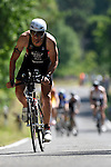GER - Maxdorf, Germany, June 14: Athletes compete in the cycling section during the 12. Maxdorfer Triathlon on June 14, 2015 at TSG Maxdorf in Maxdorf, Germany. (Photo by Dirk Markgraf / www.265-images.com) *** Local caption *** Sven Egolf #185 (SSC Karlsruhe)