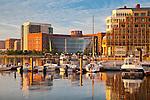 Sunrise on the Boston waterfront, Boston, MA, USA