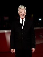 Il regista statunitense David Lynch posa sul red carpet della Festa del Cinema di Roma, 4 novembre 2017 .<br /> US director David Lynch poses on the red carpet at the international Rome Film Festival at Rome's Auditorium, November 4, 2017  .<br /> UPDATE IMAGES PRESS/Isabella Bonotto