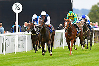 Winner of The Gift Of Sight Appeal EBF Novice Stakes Div 1    Cap Francais ridden by Andrea Atzeni and trained by Ed Walker  during the Bathwick Tyres & EBF Race Day at Salisbury Racecourse on 6th September 2018