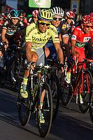 Spanish cyclist Alberto Contador of Tinkof Saxo team during the last stage or La Vuelta of Spain in Madrid. September 10, 2016. (ALTERPHOTOS/Rodrigo Jimenez) NORTEPHOTO.COM