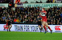 Scarlets' Rhys Patchell in action during todays match<br /> <br /> Photographer Ashley Crowden/CameraSport<br /> <br /> Guinness Pro14 Round 6 - Ospreys v Scarlets - Saturday 7th October 2017 - Liberty Stadium - Swansea<br /> <br /> World Copyright &copy; 2017 CameraSport. All rights reserved. 43 Linden Ave. Countesthorpe. Leicester. England. LE8 5PG - Tel: +44 (0) 116 277 4147 - admin@camerasport.com - www.camerasport.com