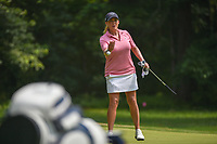 Cristie Kerr (USA) tosses her ball to her caddie on 1 during round 4 of the U.S. Women's Open Championship, Shoal Creek Country Club, at Birmingham, Alabama, USA. 6/3/2018.<br /> Picture: Golffile | Ken Murray<br /> <br /> All photo usage must carry mandatory copyright credit (&copy; Golffile | Ken Murray)