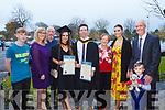 Sean Horan, Trish Horan, Paul Horan, Health and Leisure Graduates Clare McCarthy, Vincent Horan, Eileen Kennedy, Deirdre McCarthy, Gerard McCarthy and Conor McCarthy with scruffy7at the IT Tralee graduation ceremony at the Brandon hotel, Tralee on Thursday