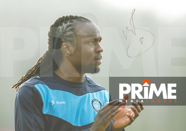 Marcus Bean of Wycombe Wanderers Signed Photos at Adams Park, High Wycombe, England on 29 April 2016. Photo by Andy Rowland.