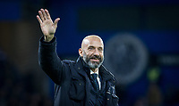 Gianluca Vialli as the ex Chelsea player walks the pitch at half time during the Premier League match between Chelsea and West Bromwich Albion at Stamford Bridge, London, England on 12 February 2018. Photo by Andy Rowland.