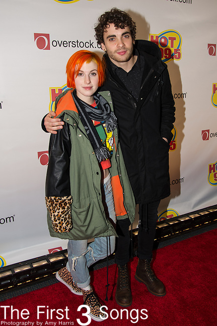 Hayley Williams and Taylor York of Paramore attends the Hot 99.5's Jingle Ball 2013 presented by Overstock.com, at the Verizon Center on December 16, 2013 in Washington, D.C.