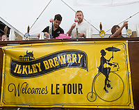Picture by Allan McKenzie/SWpix.com -  05/07/2014 - Cycling - Tour de France 2014 Grand Depart - Stage 1, Leeds to Harrogate - Yorkshire, England - Ilkley Brewery serving on the street for the Tour De France.