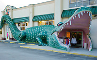 Alligator Entrance at a gift shop in Surf City, North Carolina.