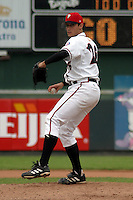 August 31, 2003:  Rocky Cherry of the Lansing Lugnuts, Class-A affiliate of the Chicago Cubs, during a Midwest League game at Oldsmobile Park in Lansing, MI.  Photo by:  Mike Janes/Four Seam Images