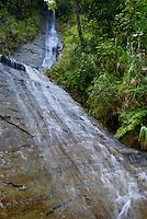Falls on Upper Navua River, River Canyon with waterfalls and rainforest, Viti Levu Island, Fiji